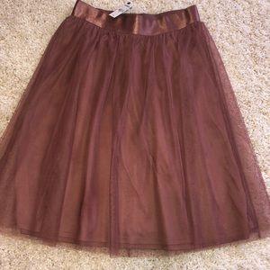 NEW Pink knee length skirt